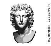 sculpture of a man head painted ...   Shutterstock .eps vector #1938679849