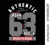 brooklyn city typography... | Shutterstock .eps vector #1938688639