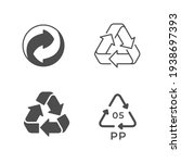 set icons of recycling or reuse ... | Shutterstock . vector #1938697393