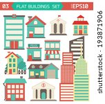 modern flat vector buildings... | Shutterstock .eps vector #193871906
