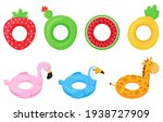 Set Of Rubber Colorful...