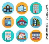 modern flat vector buildings... | Shutterstock .eps vector #193872896