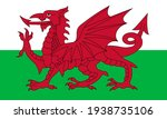 flag of wales. official colors. ... | Shutterstock .eps vector #1938735106