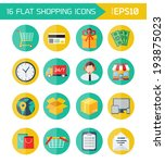 modern flat vector shopping... | Shutterstock .eps vector #193875023