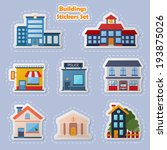 modern flat vector buildings... | Shutterstock .eps vector #193875026