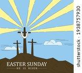 christian cross on the... | Shutterstock .eps vector #1938757930