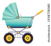 baby carriage icon. cartoon of... | Shutterstock .eps vector #1938758380