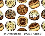 sketch hand drawn pattern with...   Shutterstock .eps vector #1938773869