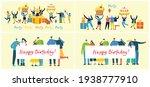 happy birthday party background.... | Shutterstock .eps vector #1938777910