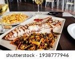 Grilled Big Squid  Calamar A La ...