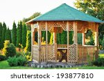 Outdoor Wooden Gazebo Over...