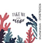 vector sea life poster with... | Shutterstock .eps vector #1938782026