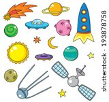 vector collection of spaceship  ... | Shutterstock .eps vector #193878758