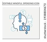 mindful spending line icon.... | Shutterstock .eps vector #1938804673