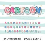cartoon colorful font for kids. ... | Shutterstock .eps vector #1938811543