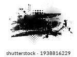 black blot with splashes....   Shutterstock .eps vector #1938816229