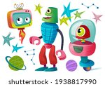 Clipart Set Of Monsters And...