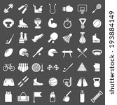 set icons of sports and fitness ... | Shutterstock .eps vector #193884149