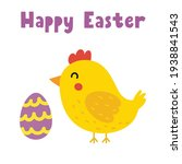 happy easter greeting card with ... | Shutterstock .eps vector #1938841543
