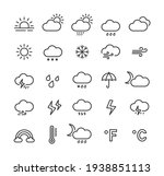 weather line icon set with... | Shutterstock .eps vector #1938851113