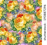 watercolor flower background.... | Shutterstock . vector #193887296