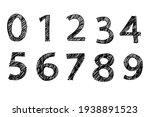 hand drawing number vectors  ...   Shutterstock .eps vector #1938891523
