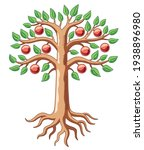 big tree with apples. color...   Shutterstock .eps vector #1938896980