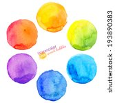 colorful vector isolated... | Shutterstock .eps vector #193890383