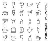 drink line icon set on white...   Shutterstock .eps vector #1938924943