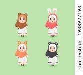 cute chibi  kawaii hijab girl...   Shutterstock .eps vector #1938927193