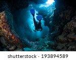 A Diver Explores The Cracks ...