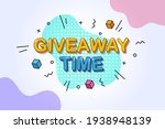 giveaway time  giveaway... | Shutterstock .eps vector #1938948139