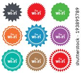free wifi sign. wifi symbol.... | Shutterstock .eps vector #193895789