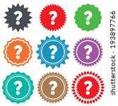 question mark sign icon. help... | Shutterstock .eps vector #193897766