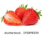 strawberries on white background | Shutterstock . vector #193898354