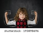 strong kid in class. happy... | Shutterstock . vector #193898696