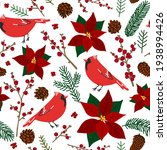 pattern winter flowers berries  ... | Shutterstock .eps vector #1938994426