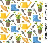 Garden Seamless Pattern With...