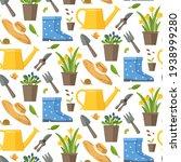 Garden Seamless Pattern With...