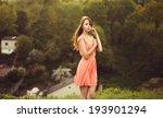 portrait of beautiful lady in... | Shutterstock . vector #193901294