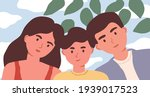 family selfie portrait of... | Shutterstock .eps vector #1939017523