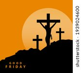 jesus three crosses on golgota...   Shutterstock .eps vector #1939024600