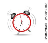 realistic red alarm clock... | Shutterstock .eps vector #1939048480