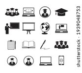 simple set of learning icons.... | Shutterstock .eps vector #1939048753