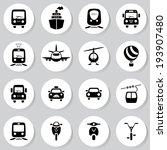 transport icon set | Shutterstock .eps vector #193907480