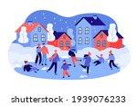 men  women  kids  families ice...   Shutterstock .eps vector #1939076233