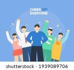 cheer up  korea. group...   Shutterstock .eps vector #1939089706