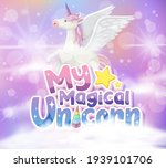 pegasus with my magical unicorn ... | Shutterstock .eps vector #1939101706