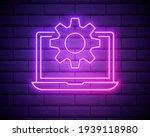 glowing neon line laptop and...   Shutterstock .eps vector #1939118980