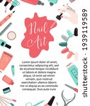 nails card  flyer  certificate  ... | Shutterstock .eps vector #1939119589